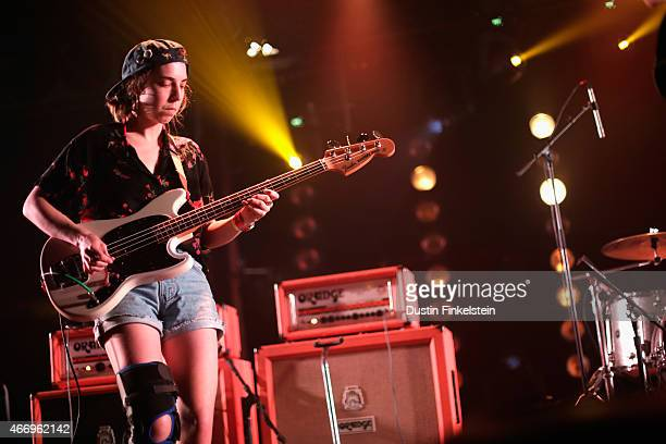 Lydia Lund of Chastity Belt performs onstage at the Hype/Gorilla vs Bear showcase during the 2015 SXSW Music Film Interactive Festivale at Hype Hotel...