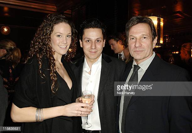 Lydia Purnell Nick Gold and Michael Brandon during Frankie's Italian Bar and Grill Opening at 263 Putney Bridge in London Great Britain