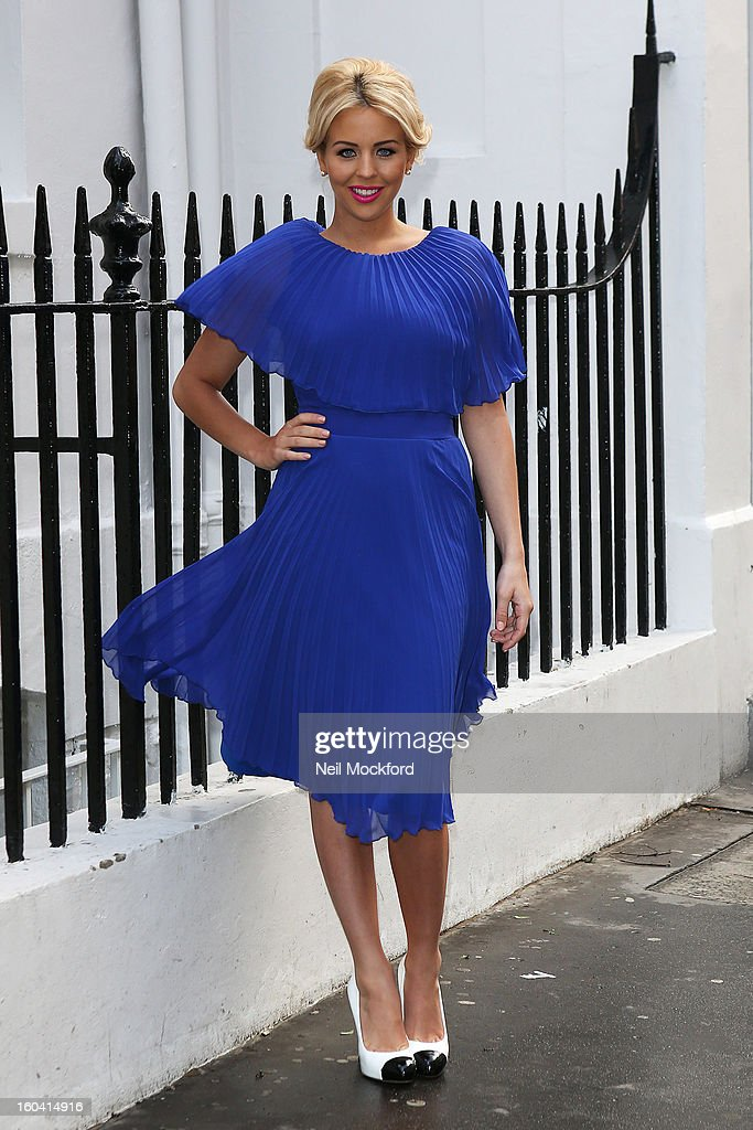 Lydia Rose Bright arriving for the launch of her s/s 2013 fashion presentation at the House of St. Barnabas on January 31, 2013 in London, England.