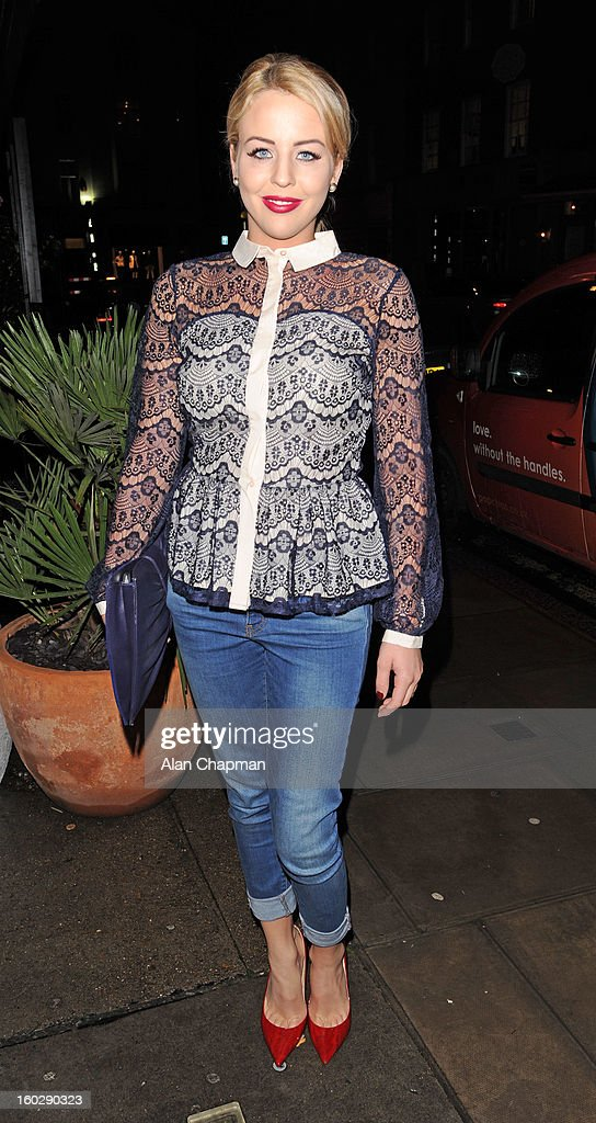Lydia Rose Bright sighting on January 27, 2013 in London, England.