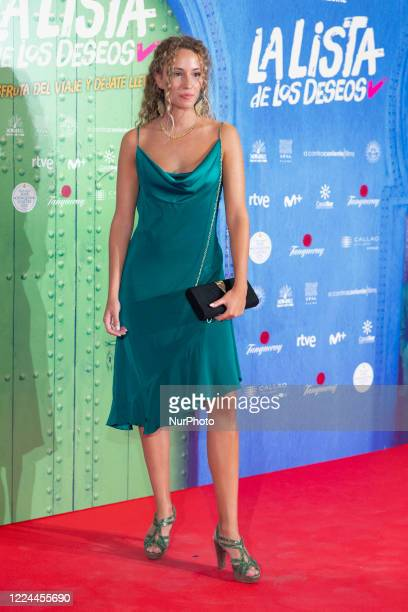 Lydia Sabadell poses for the photographers during the premiere of the film 'La lista de deseos' directed by Spanish film maker Alvaro Diaz Lorenzo at...