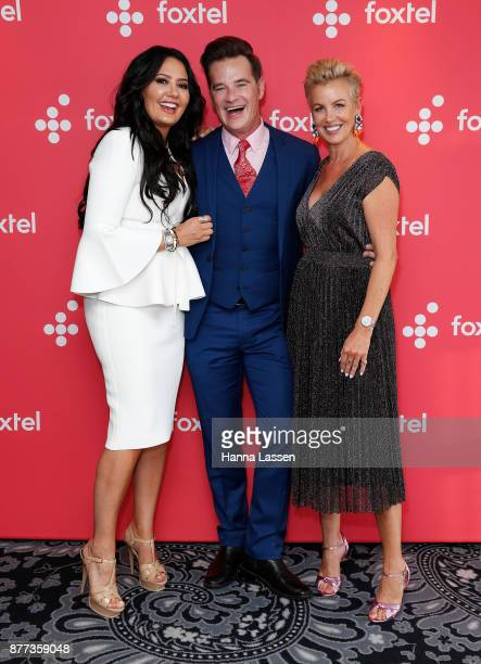 Lydia Schiavello Richard Reid and Sally Bloomfield arrive at a Real Housewives of Melbourne Season 4 Media Opportunity on November 22 2017 in Sydney...