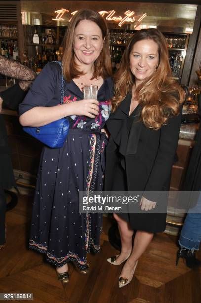Lydia Slater and Julia Perowne attend the Harper's Bazaar lunch to celebrate International Women's Day at 34 Mayfair on March 8 2018 in London England
