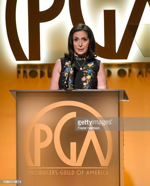 Lydia Tenaglia accepts The Award for Outstanding Producer of NonFiction Television for 'Anthony Bourdain Parts Unknown' onstage during the 30th...