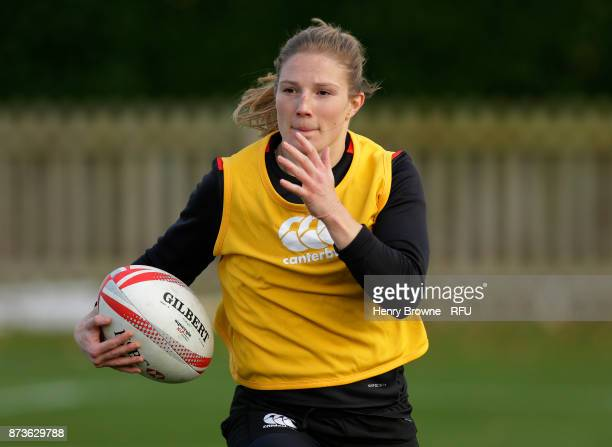 Lydia Thompson during England Women Sevens training at Bisham Abbey on November 13 2017 in Marlow England