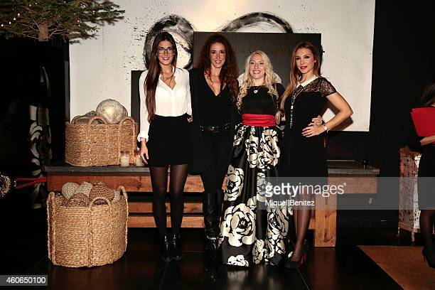 Lydia Torrent Elsa Anka Anastasia Zhuravleva and 'Gisela' Gisela Llado attend the presentation of the new 'Carrera y Carrera' jewelry collection at...
