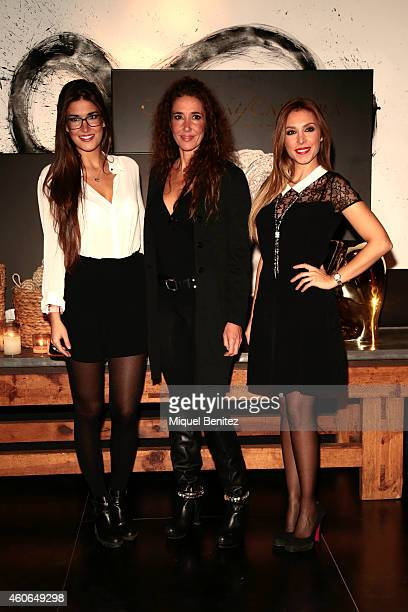Lydia Torrent Elsa Anka and Gisela Llado attend the presentation of the new 'Carrera y Carrera' jewelry collection at Espacio Azul Tierra on December...