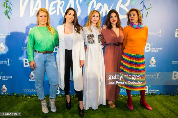 Lydia Valentin, weightlifter, Ruth Lorenzo, Singer, Marta Hazas, actress, Nadia Benyahya, show host, and Agatha Ruiz de la Prada, designer, attend...