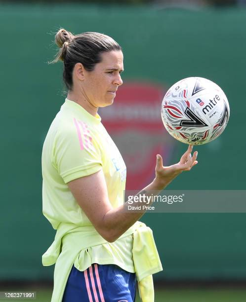 Lydia Williams of Arsenal during the Arsenal Women training session at Arsenal Academy on July 29 2020 in Walthamstow England