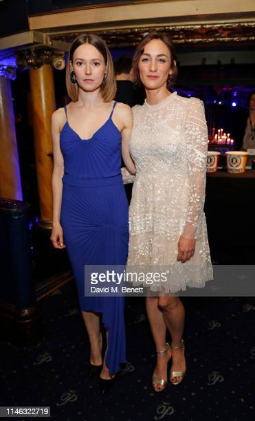 Lydia Wilson and Cara Horgan attend the Raindance Independent Filmmaker's Ball at Cafe de Paris on May 01 2019 in London England