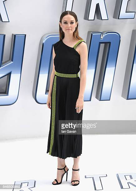 Lydia Wilson arrives for the UK premiere of Star Trek Beyond at Empire Leicester Square on July 12 2016 in London UK