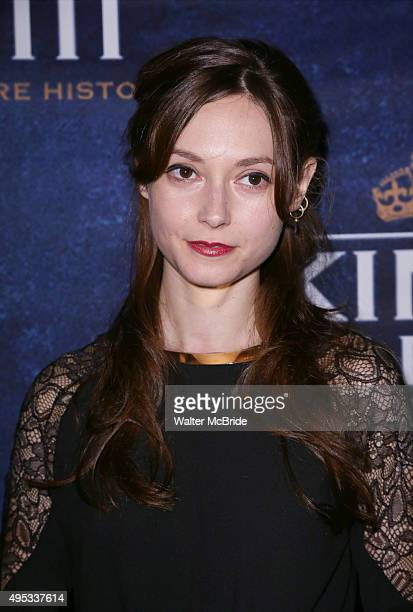 Lydia Wilson attend the 'King Charles III' Broadway opening night after party at the Bryant Park Grill on November 1 2015 in New York City