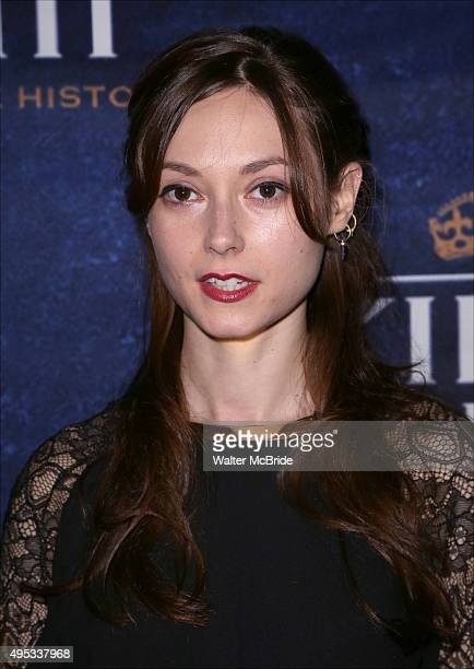 Lydia Wilson attends the 'King Charles III' Broadway opening night after party at the Bryant Park Grill on November 1 2015 in New York City