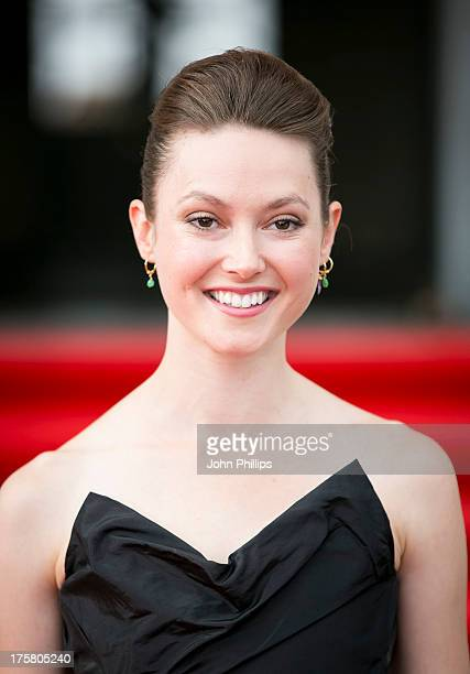 Lydia Wilson attends the world premiere of 'About Time' at Somerset House on August 8 2013 in London England