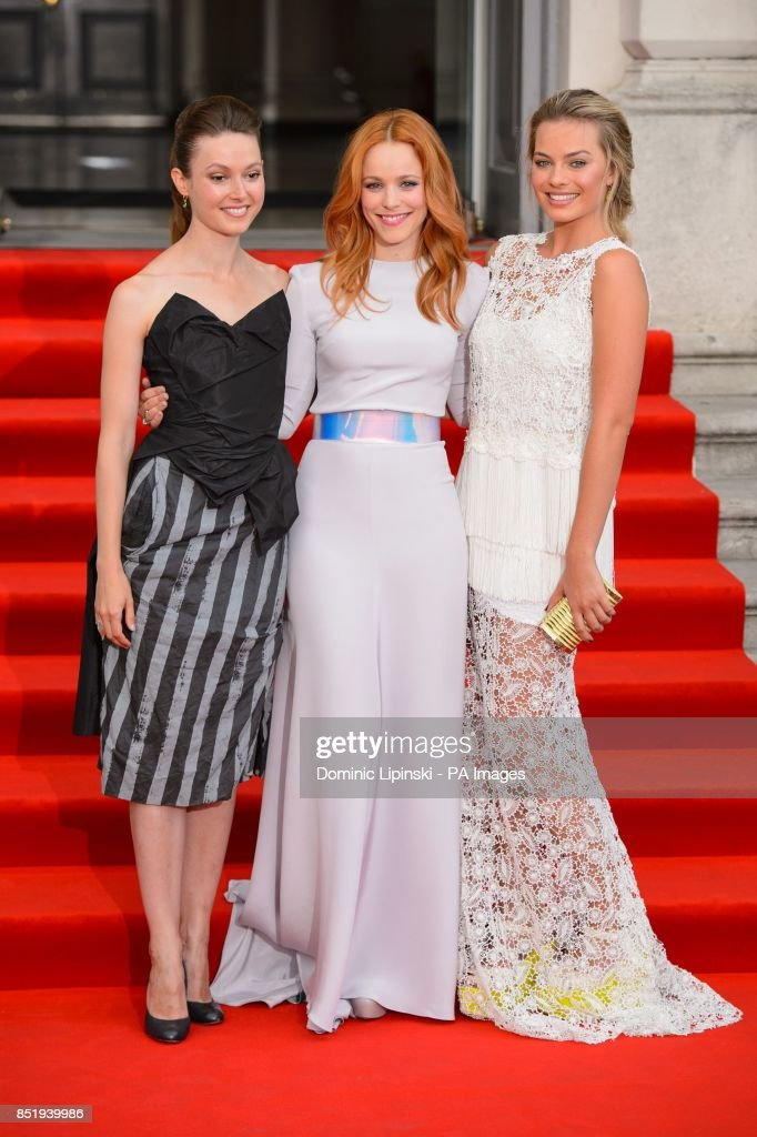Lydia Wilson Rachel Mcadams And Margot Robbie Arriving At The