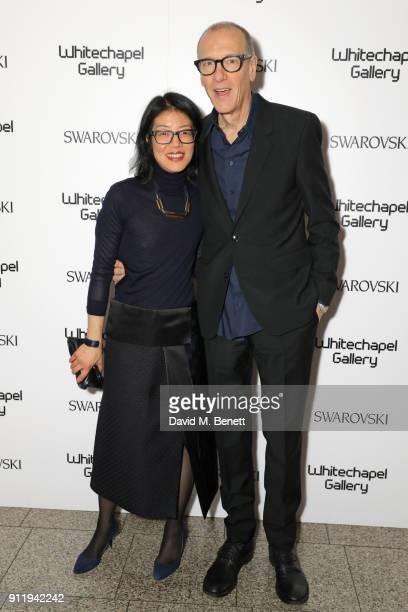 Lydia Yee and Christian Marclay attend a gala dinner to celebrate Mona Hatoum as Whitechapel Gallery Art Icon with Swarovski at Whitechapel Gallery...