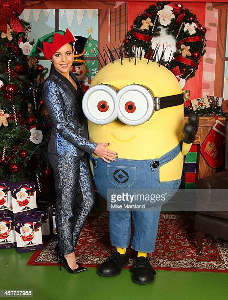 LydiaRose Bright joins the Minions to help launch the DVD of Despicable Me 2 at Hamleys on December 1 2013 in London England