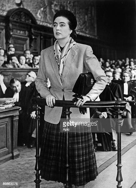 Lydie Bastien mistress of Rene Hardy she was at the origin of treachery which was fatal to Jean Moulin here at trial of Rene Hardy may 5 1950