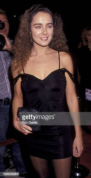 Lydie Denier attends the premiere of My Private Idaho on October 11 1991 at the Academy Theater in Beverly Hills California