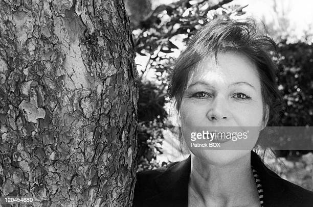 Lydie Salvayre in Cassis, France on May 03, 1998.