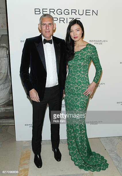 Lyer Cohen Global Head of Music Youtube and guest attend the Berggruen Prize Gala Honoring Philosopher Charles Taylor at New York Public Library on...