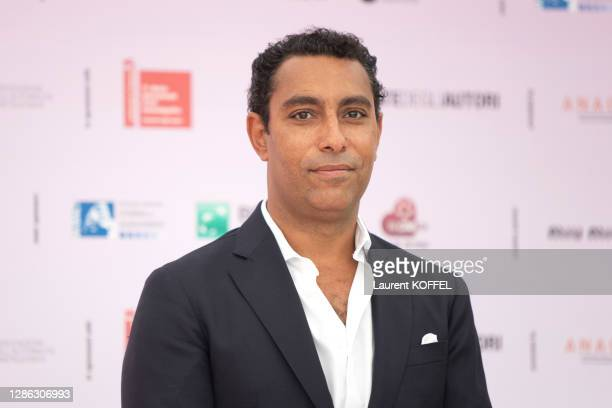 """Lyes Salem attends Honey Cigar photocall at the """"Giornate degli Autori"""" during the 77th Venice Film Festival on September 02, 2020 in Venice, Italy."""