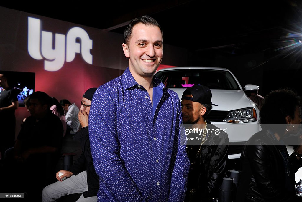 Lyft Co-founder, John Zimmer attends the Lyft driver rally at Siren Studios on January 27, 2015 in Hollywood, California.
