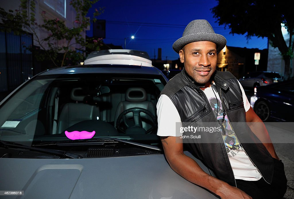 Lyft Drivers attend the Lyft driver rally at Siren Studios on January 27, 2015 in Hollywood, California.