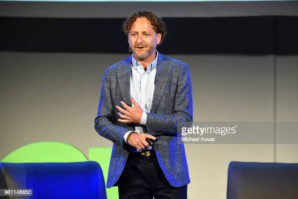 Lyft Head of Social Impact Mike Masserman speaks onstage at the EMA IMPACT Summit at Montage Beverly Hills on May 21 2018 in Beverly Hills California