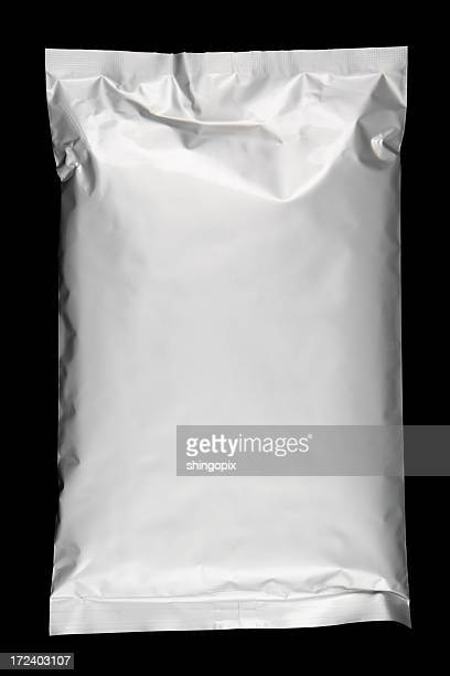 lying aluminium foil bag - packaging stock pictures, royalty-free photos & images