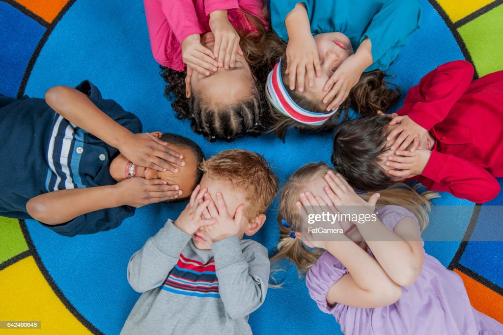 Lying in a Circle : Stock Photo