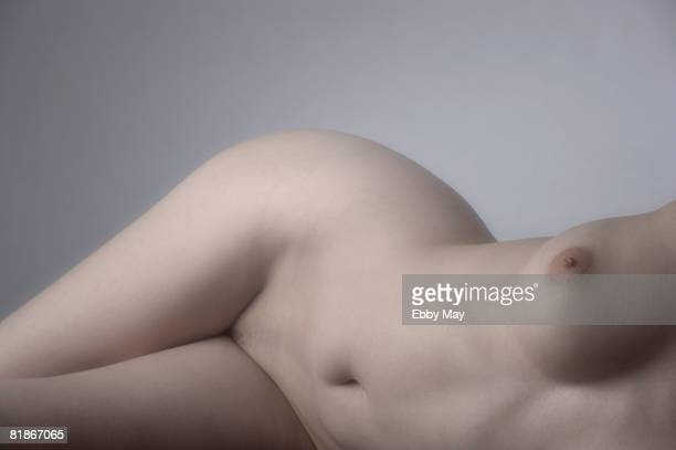 Lying nude