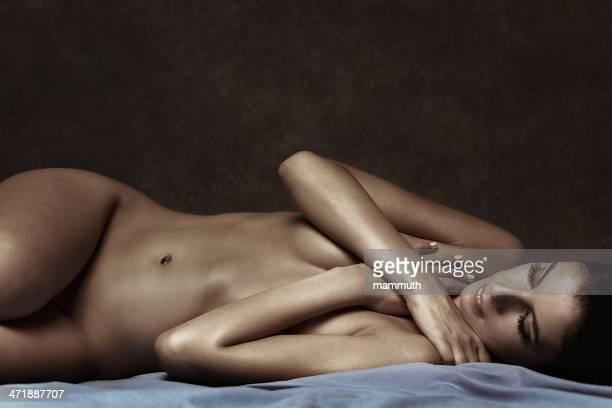 lying nude woman