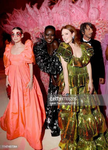 Lykke Li Adut Akech Bior and Julianne Moore attend The 2019 Met Gala Celebrating Camp Notes on Fashion at Metropolitan Museum of Art on May 06 2019...