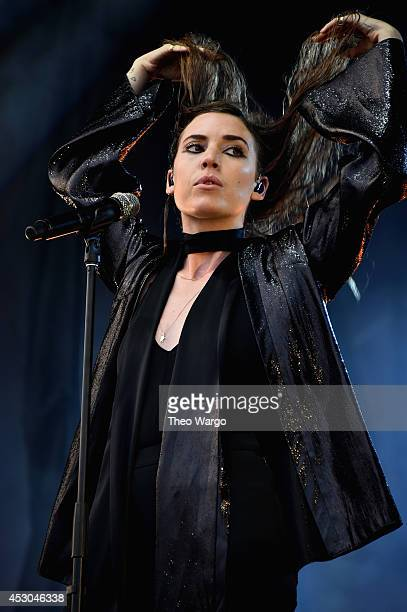 Lykke Li performs at Lake Shore stage during 2014 Lollapalooza Day One at Grant Park on August 1 2014 in Chicago Illinois