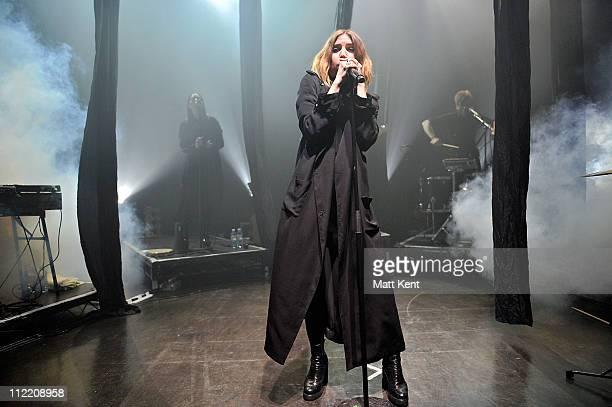 Lykke Li performs at Shepherds Bush Empire on April 14 2011 in London England