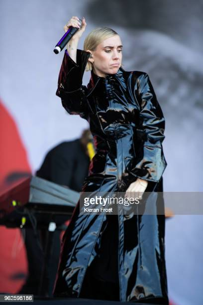 Lykke Li performs at the BBC Biggest Weekend at Titanic Slipways on May 25 2018 in Belfast Northern Ireland