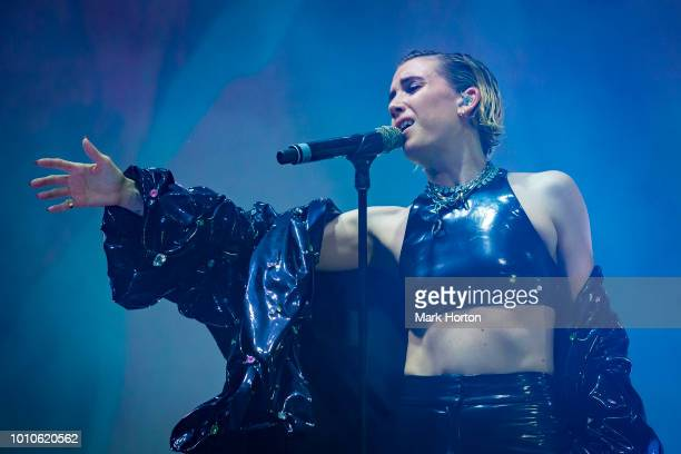 Lykke Li performs at the Osheaga Music and Arts Festival at Parc JeanDrapeau on August 3 2018 in Montreal Canada