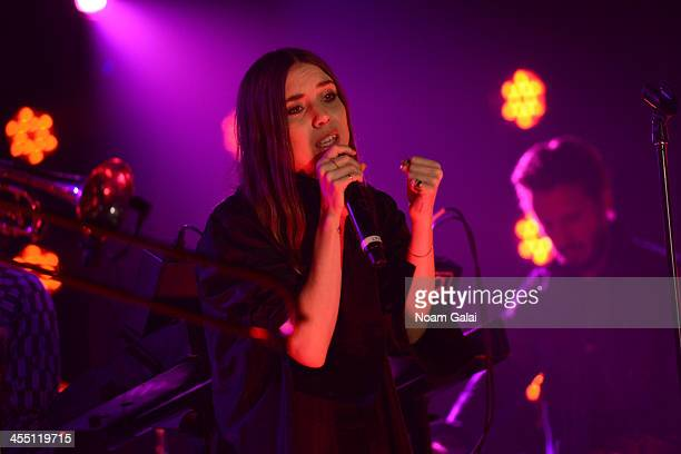 Lykke Li performs at the Other Ball fundraiser sponsored by Topshop Topman for Arms Around the Child at the Highline Ballroomon December 10 2013 in...
