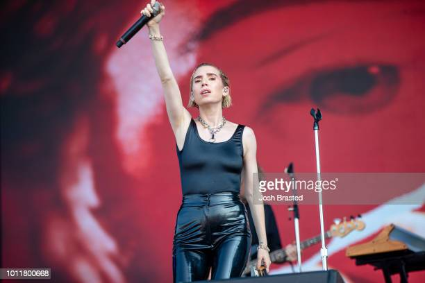 Lykke Li performs during Lollapalooza 2018 at Grant Park on August 5 2018 in Chicago Illinois