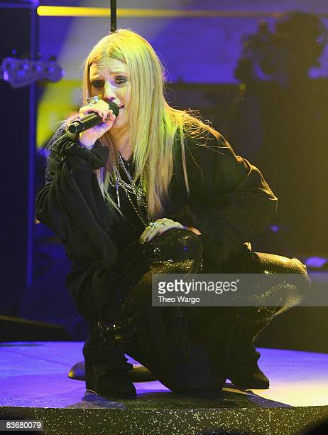 Lykke Li performs during the 2008 mtvU Woodie Awards at Roseland Ballroom on November 12 2008 in New York City