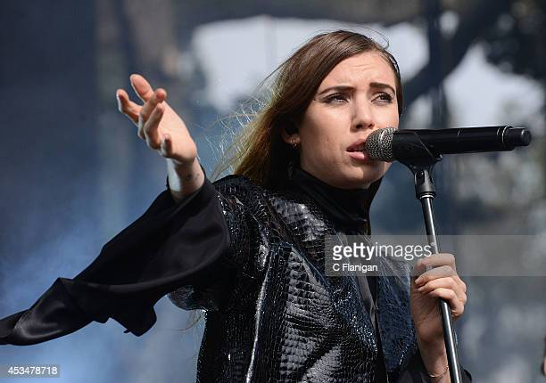 Lykke Li performs during the 7th Annual Outside Lands Music Arts Festival at Golden Gate Park on August 10 2014 in San Francisco California