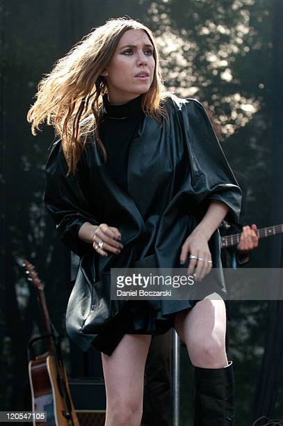 Lykke Li performs on stage during Lollapalooza Festival 2011 at Grant Park on August 6 2011 in Chicago United States