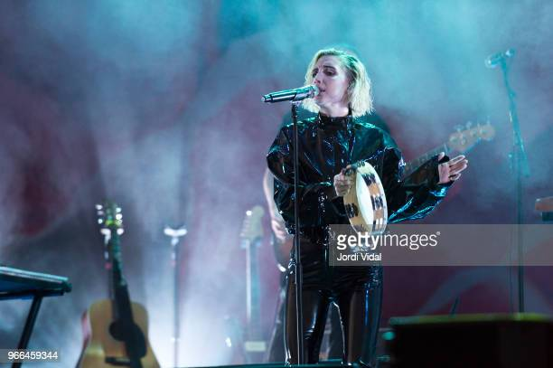Lykke Li performs on stage during Primavera Sound Festival day 4 at Parc del Forum on June 2 2018 in Barcelona Spain