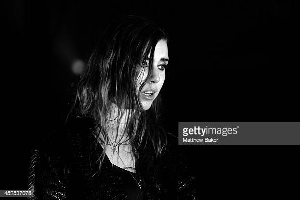 Lykke Li performs on the BBC Radio 6 Music stage at the Latitude Festival at Henham Park Estate on July 20 2014 in Southwold England