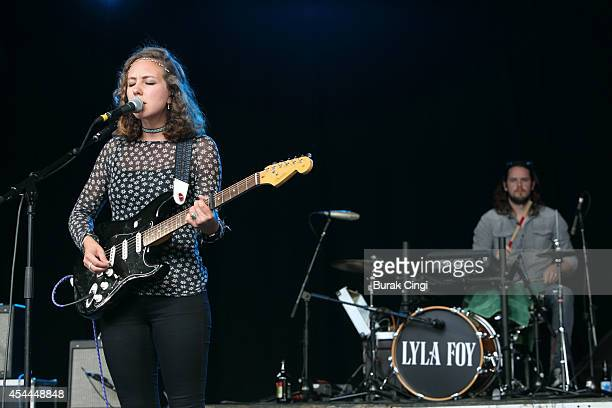 Lyla Foy performs on stage at End Of The Road Festival at Larmer Tree Gardens on August 31 2014 in Salisbury United Kingdom