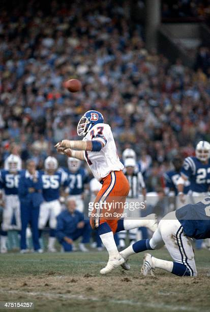 Lyle Alzado of the Denver Broncos in action against the Baltimore Colts during an NFL Football game October 22 1978 at Memorial Stadium in Baltimore...