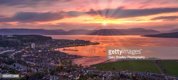 lyle hill view - river clyde stock pictures, royalty-free photos & images