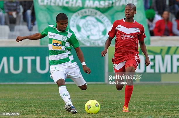 Lyle Lakay for Celtics during the Absa Premiership match between Bloemfontein Celtic and Free State Stars at Free State Stadium on May 11 2013 in...