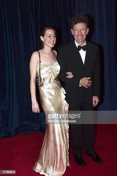 Lyle Lovett and April Kimble arrive at the United States State Department for a dinner in Washington Saturday December 6 2003 evening preceding...